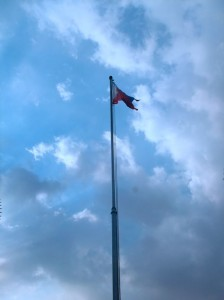 Philippine flag unfurled. Fort Santiago, Intramuros, Manila