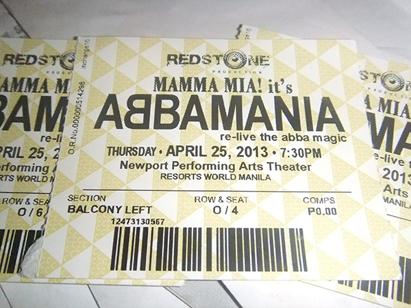 Abbamania free tickets
