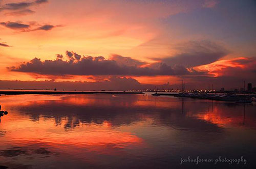 Manila Bay Sunset by Joshua F